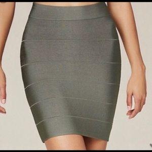 Bebe high waisted olive green bandage skirt